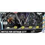 Batman Dark Knight Rises Exclusive 4 Inch Action Figure 5Pack Battle For Gotham City Bane, Caped Crusader Batman, Bruce Wayne, Stealth Vision Batman Catwoman
