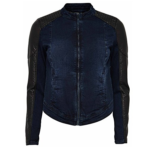 Only Jeans giacca in pelle giacca jeans da donna Starlet Biker Pu Blu/Nero, blu (Blau), 40