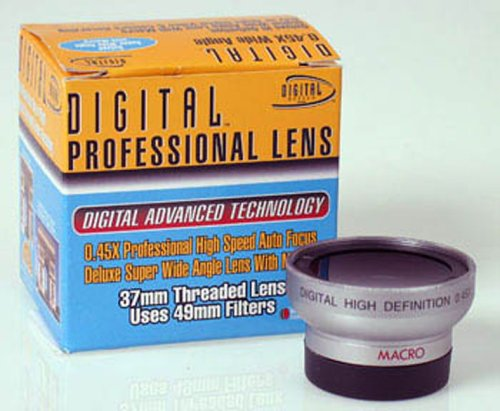 Digital Optics Professional .45X Wide Angle Lens w/ Macro - for 37mm threading