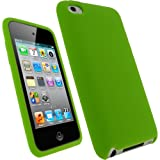 IGadgitz Green Silicone Skin Case Cover for Apple iPod Touch 4th Generation 8gb, 32gb, 64gb + Screen Protector