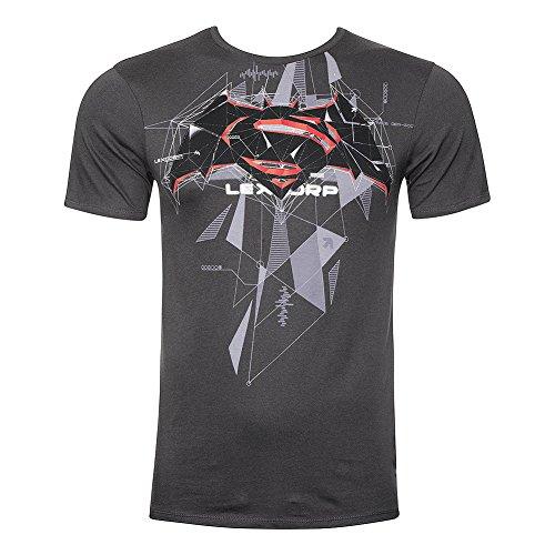 T Shirt Logo Cubic Batman DC Comics (Carbone) - Small