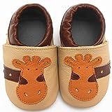 Sayoyo Suaves Zapatos De Cuero Del Beb� Zapatillas jirafa