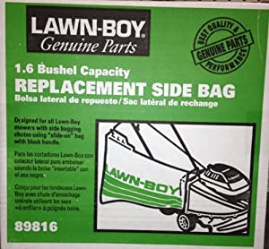Genuine Oem Lawnboy Parts And Accessories - Lb Side Replacemnet Bag Styl 89816 from LAWNBOY PARTS AND ACCESSORIES