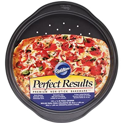 Wilton 2105-6804 Perfect Results Nonstick Pizza Crisper, 14.25 by .625-Inch