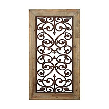 Deco 79 Metal Wood Wall Plaque, 46 by 26-Inch