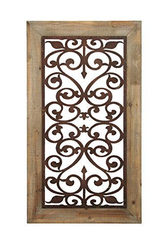 Deco 79 Metal Wood Wall Plaque, 46 by 26-Inch 0