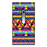 Head Case Designs Cool Neon Aztec Design Glossy Back Case for Nokia Lumia 900