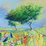 2 Crows And Approaching Shower By Cole, Daniel - Fine Art Print On CANVAS : 23.5 X 23.5 Inches