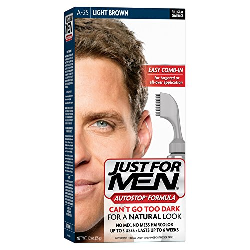 Just For Men AutoStop Men's Hair Color, Light Brown (Light Grow Mix compare prices)