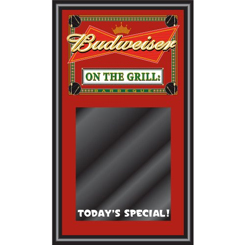 Trademark Budweiser BBQ Write On Menu Board - On The Grill, Red
