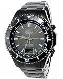 エルジン ELGIN ソーラー 電波 腕時計 FK1371B-BP ブラック