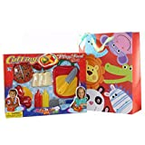 Childrens Pretend Play Kitchen Toy With Knife Cutting Board Sauce Pizza Fruit