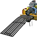 "108"" Black Widow 3-Piece Heavy Duty Folding Arched Motorcycle Ramp"