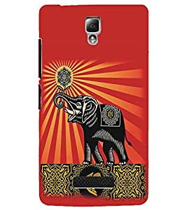 LENNOVO A2010 ELEPHANT Designer Back Cover Case By PRINTSWAG