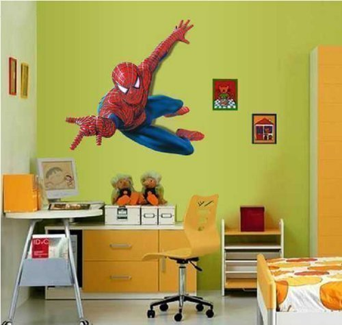 Huge Large Spiderman Wall Stickers Children Boys Bedroom Decal art Mural Decor