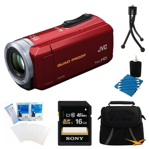 "3"" Lcd Waterproof Hd Cam Red"