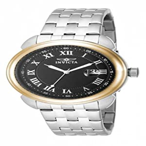 Invicta Specialty Men's 16181 Stainless Steel Black Dial Watch