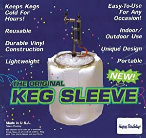 The Original Keg Sleeve: Full-Size Portable Beer Keg Vinyl Indoor/Outdoor Cooler (Happy Birthday Version)