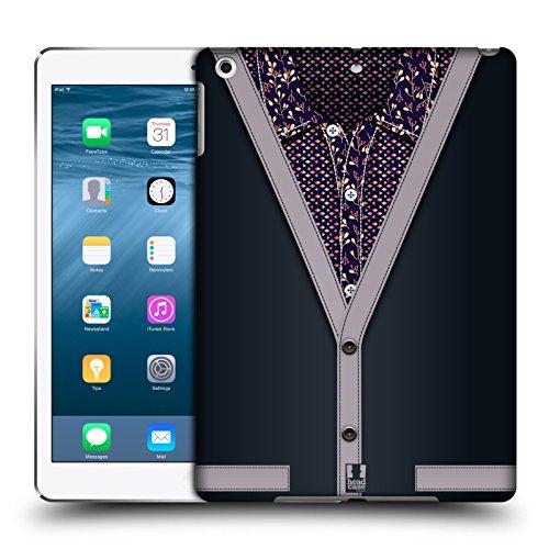 Head Case Designs Grigio Carbone Collezione Cardigan Cover Retro Rigida per Apple iPad Air