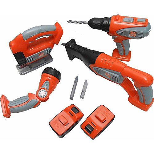 Tools Toys R Us : The home depot deluxe power tool set toy b k qz