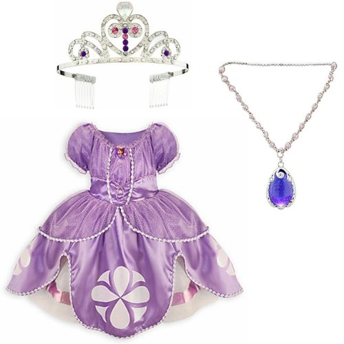 Disney Sofia Costume Set With Dress (18-24 Mos.) Light-Up Amulet And Tiara Crown front-892721