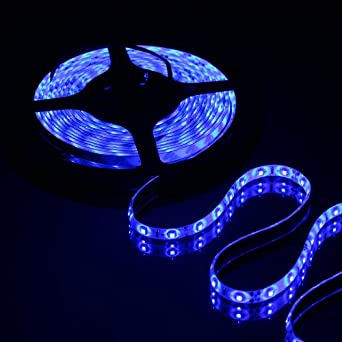 Vanity Led Light Strip : Innoo Tech**5 Meter 16.4 FT Flexible 300 LED Strip Lighting 12V 3528 BLUE WaterProof IP65 ...