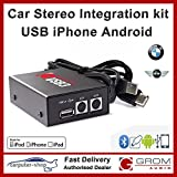 Grom Audio (USB3) USB Android iPhone car stereo integration kit for BMW Mini (boot/CD changer fitment) - supports Apple Lightning connector. 3 series 5 series 7 series X3 X5 M3 M5 Z3 Z4 Z8