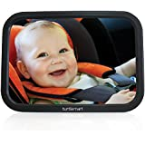 Baby Car Mirror for Adjustable Wide-angle Viewing of Back Seat Rear-facing Baby By Turtle Mart LLC Offers Parents a Shatterproof Baby Back Seat Mirror to See Baby Any Time While Driving.