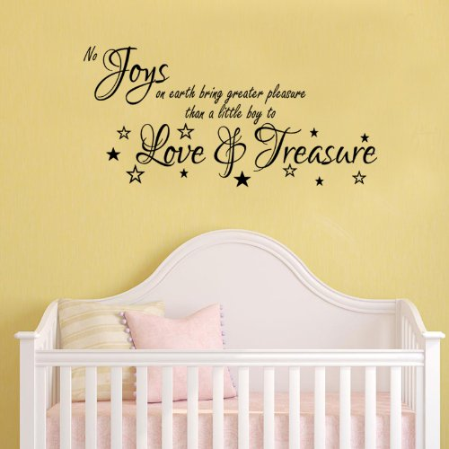 No Joys Love And Treasure Wall Sticker Quote New Born Baby Nursery Vinyl Decal 100X55 (Colour) front-22697