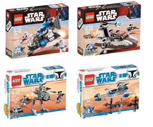 Clone Walker Battle Pack - Rebel Scout Speeder - Assassin Droids Battle Pack - Imperial Dropship Lego Star Wars Sets
