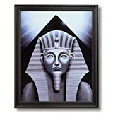Egyptian Sphinx And Pyramid Home Decor Wall Picture Black Framed Art Print