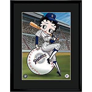 San Diego Padres MLB Betty On Deck Collectible by Toon Art
