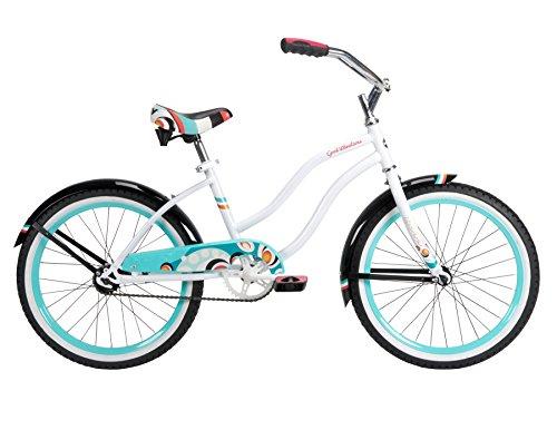 Huffy Bicycle Company Number 23555 Girls Good Vibrations Bike, White Beach, 20-Inch
