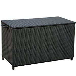 Best Selling Home Decor Royce Wicker Storage Box, Small, Black