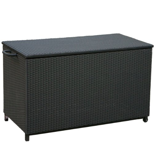Best Selling Home Decor Royce Wicker Storage Box, Small, Black image