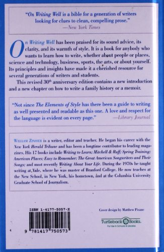on writing well william zinsser epub On writing well, 30th anniversary edition: an informal guide to writing nonfiction  - ebook by: william zinsser harper perennial / 2012 / epub write a review.