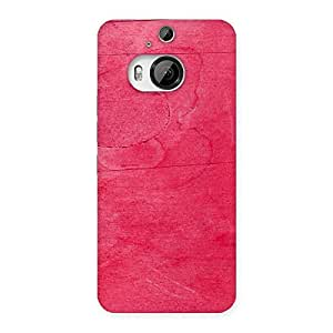 Enticing Pink Wood Work Multicolor Back Case Cover for HTC One M9 Plus
