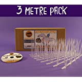 Defender Narrow Plastic Bird and Pigeon Spikes - 3 Metre Pack
