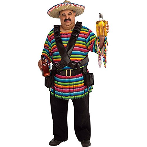 Hombre Mexican Plus Size Costume - Full Cut