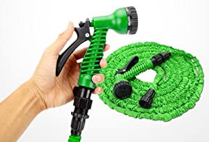 30M 100ft Retractable Coil Hose Garden Hose Pipe Adjustable Spary