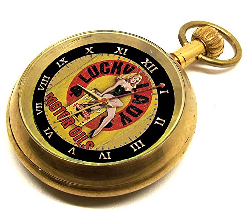 lucky-lady-motor-oil-promotional-gasoline-art-americana-collectible-pocket-watch