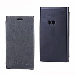 Callmate Flip Case Cover with Free Screen Guard for Nokia Lumia 720 (Black)