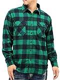 (ルーシャット) Roushatte 大きいサイズ メンズ シャツ ネルシャツ 長袖 チェック 柄 7color LL グリーン