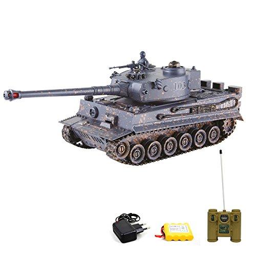 German-Tiger-I-RC-ferngesteuerter-Panzer-mit-Gefecht-und-SchusssimulationSoundLichtKomplett-Set
