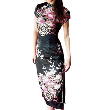 Qipao Dress Pattern Japanese Sakura...