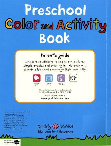 Preschool Color & Activity Book