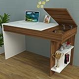HIDDEN-Schreibtisch-Computertisch-mit-Regal-in-modernem-Design-Wei-Nussbaum