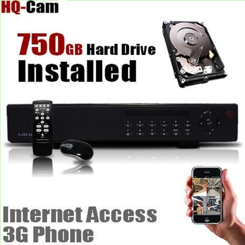 Hq-Cam H.264 16 Channel Security Cctv Surveillance Dvr System With 750Gb Hard Drive Pre-Installed - Real Time 3G Mobile
