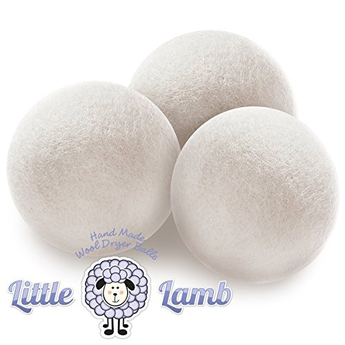 Wool Dryer Balls - 100% Premium Organic Felt Wool Dryer Balls (Xl, Handmade, Eco-Friendly, Baby Safe, All - Natural Fabric Softener) Pack Of 3 - Perfect For Baby Gift Baskets. Use With Cloth Diaper Laundry Detergent For Superior Softness.