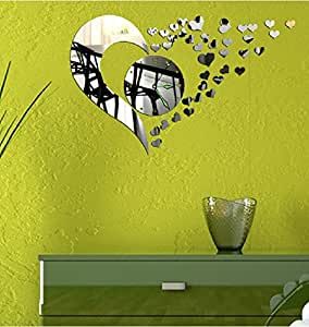 Gyb casa camera da letto specchio soggiorno orologio da for Specchio da parete camera amazon